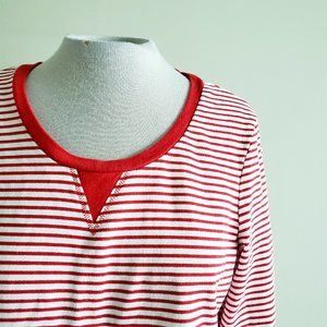 TOMMY HILFIGER Red Striped Cotton Sweater